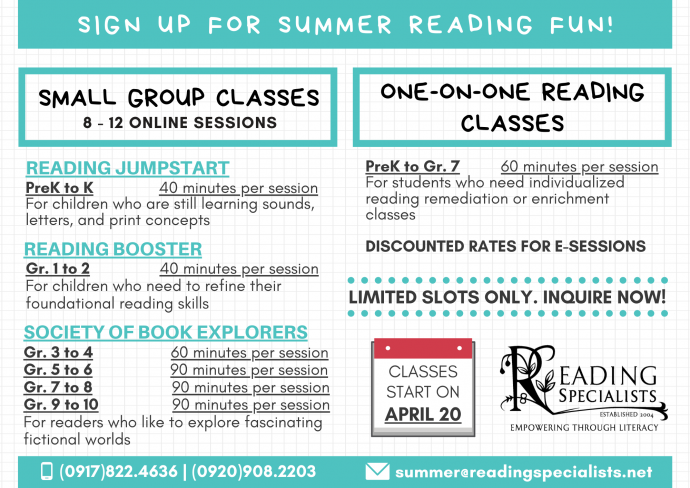 Reading Specialists Summer Programs 2020