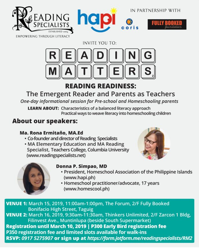 Reading Matters 2 poster