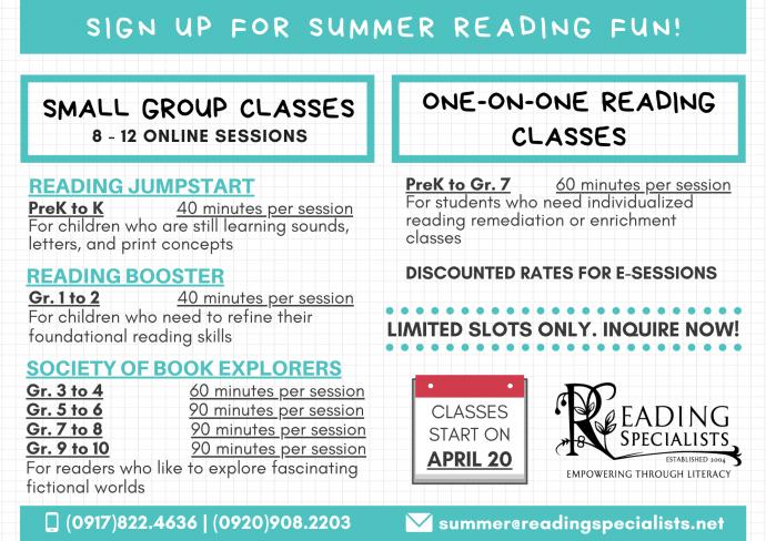 Reading Specialists Summer Programs 2020